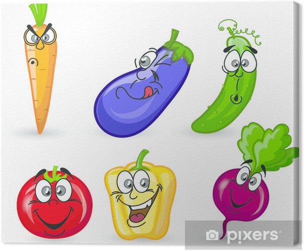 Leinwandbild Cartoon Zuckerrüben - Gerichte
