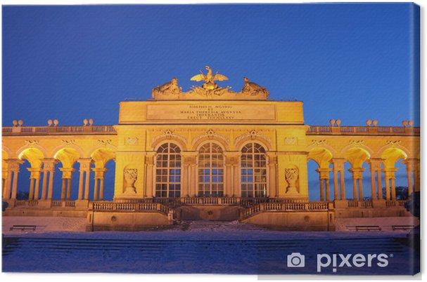 Leinwandbild Center of Glorietta in Schönbrunn Park nachts Winter in Wien - Europa