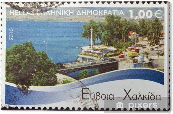 Leinwandbild Chalkis, Euböa (Griechenland 2010) - Europa