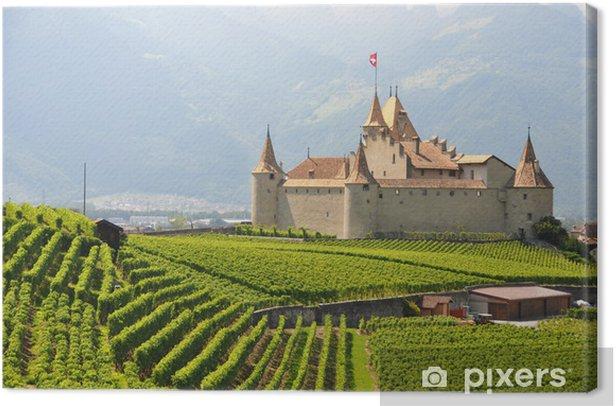 Leinwandbild Chateau d'Aigle, Switzerland - Denkmäler