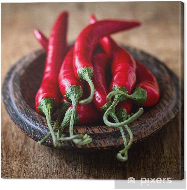 Leinwandbild Chili pepper - Gemüse