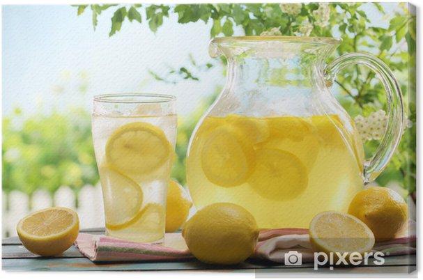 Leinwandbild Citrus Limonade - Getränkezubehör