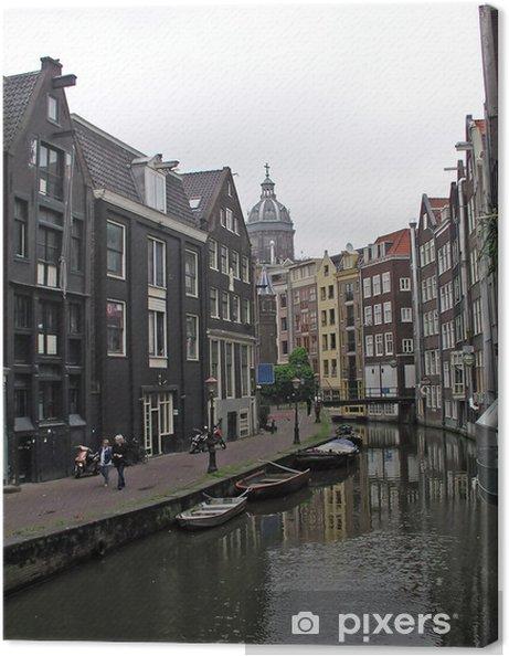 Leinwandbild Cityview in Amsterdam Holland - Stadt