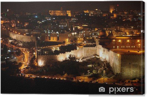 Leinwandbild Classic Jerusalem - Night in der Altstadt, Tempelberg mit der Al-Aqsa - Criteo