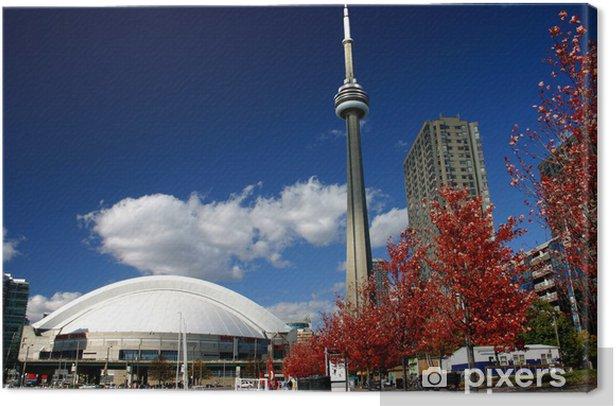 Leinwandbild CN Tower und Roger Zentrum Während Herbst - Amerika