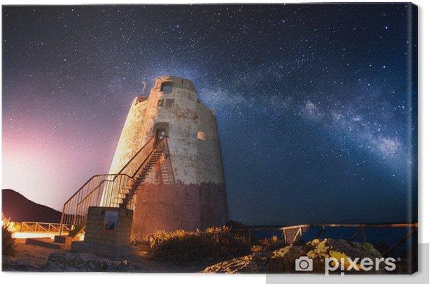 Leinwandbild Coastal Turm unter der Milchstraße - Europa