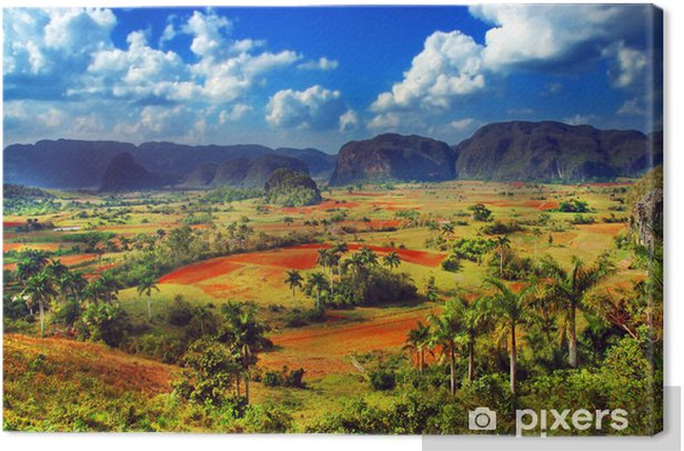 Leinwandbild Colorful Land Landschaft -