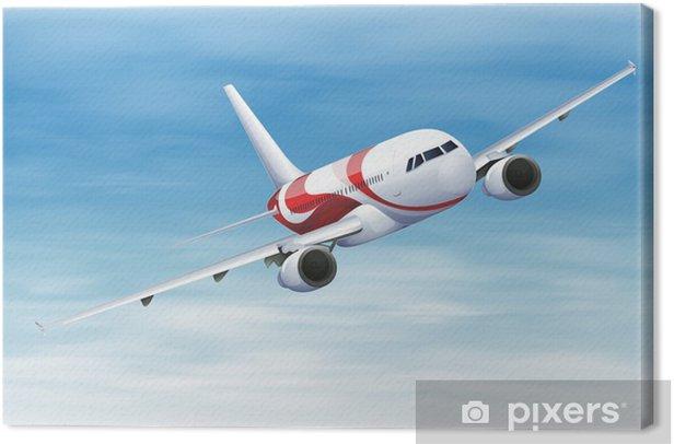 Leinwandbild Commerical Flugzeug - Luftverkehr