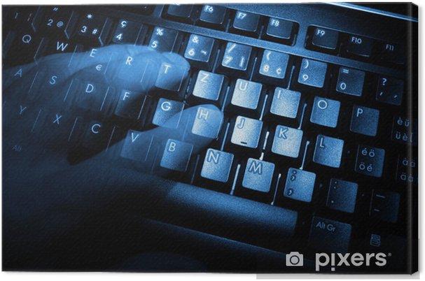 Leinwandbild Computer keyboard - Haus und Garten