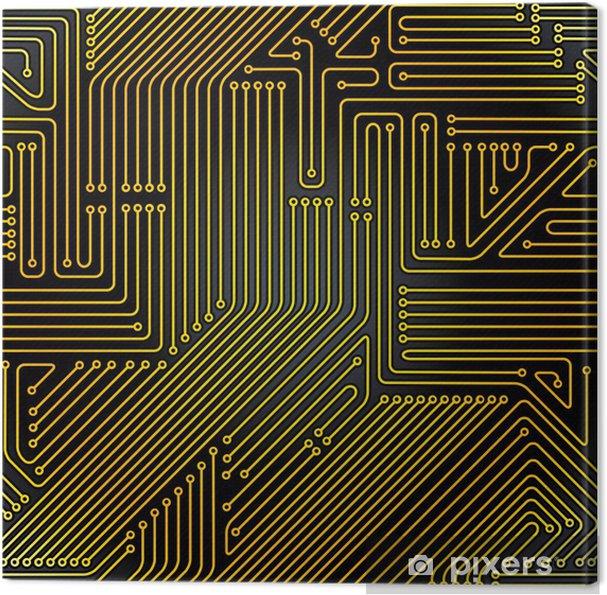 Leinwandbild Computer-Platine nahtlose Muster. - Elektronik