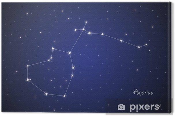 Leinwandbild Constellation Aqarius - Himmel