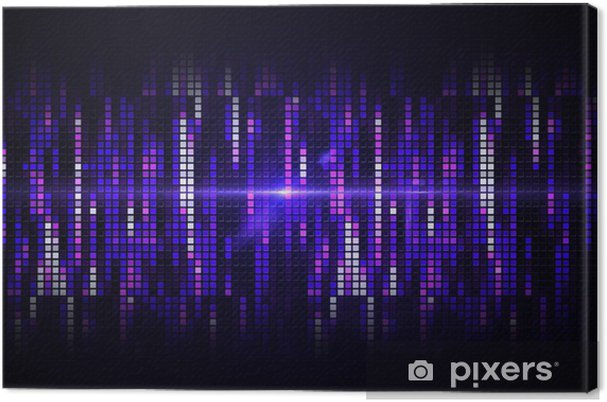 Leinwandbild Coole Hintergrund Pixel