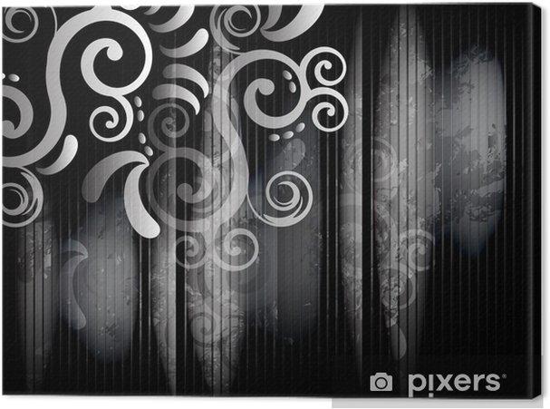 Leinwandbild Corner in Schwarz-Weiß - Stile