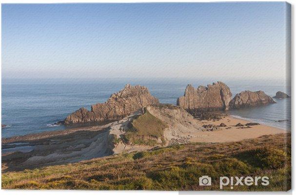 Leinwandbild Costa Quebrada in Kantabrien, Spanien - Urlaub