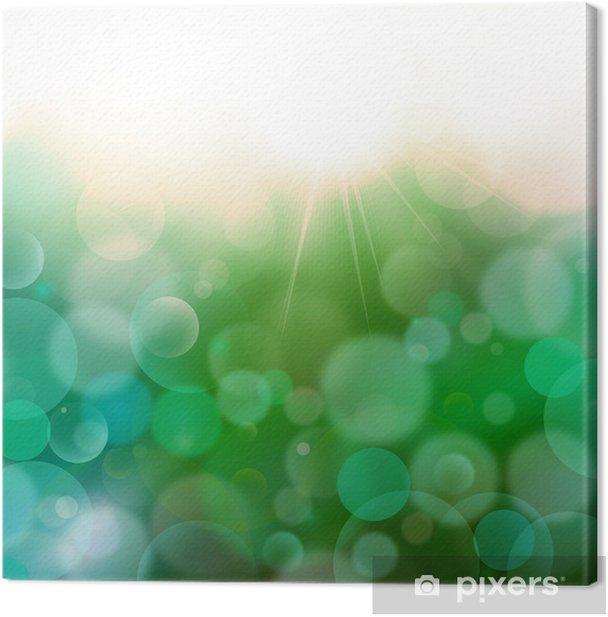 Leinwandbild Dark Green-Blue abstract background Airmar 3, Licht Bokeh - Geschäftskonzepte