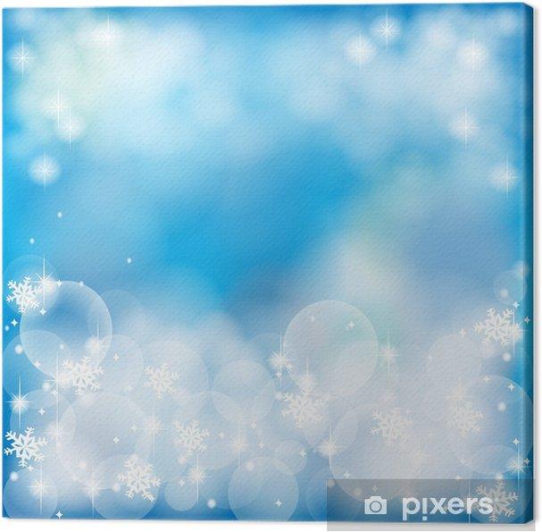 Leinwandbild Deep blue abstract background, durch den Vektor erstellen - Jahreszeiten