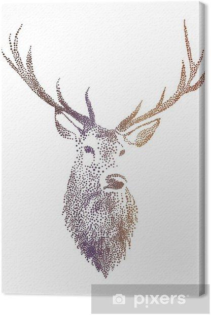 Leinwandbild Deer head vector - Lebensstil