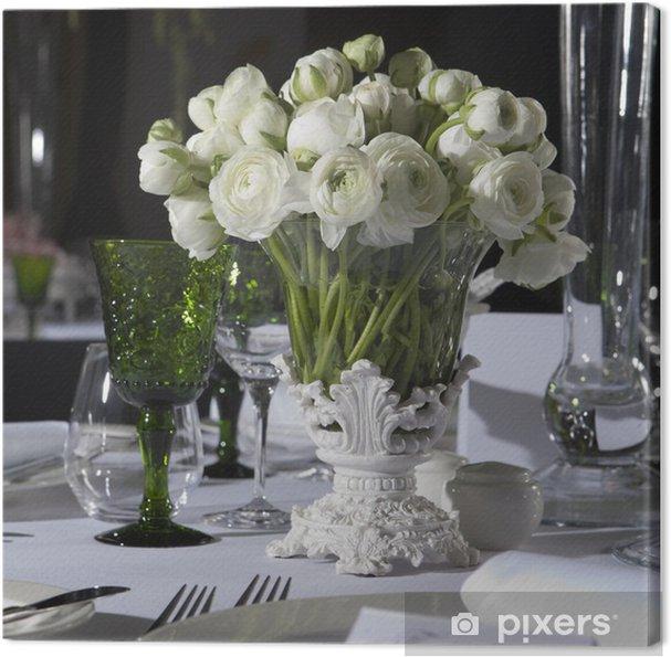 Leinwandbild Dekoration Hochzeit Tisch