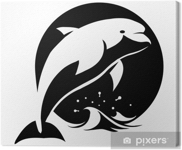 Leinwandbild Delphin - Wandtattoo