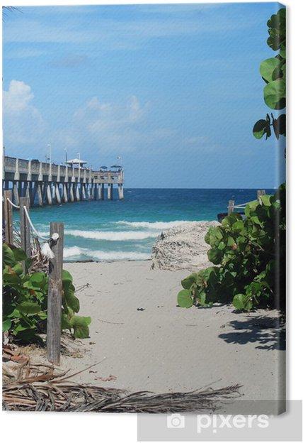 Leinwandbild Der Fishing Pier In Dania Beach Florida Pixers Wir