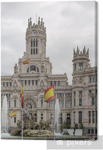 Leinwandbild Der Palacio de Comunicaciones, Madrid, Spanien. - Europäische Städte