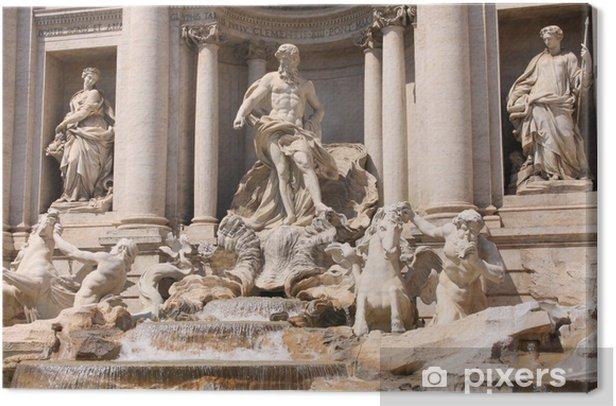 Leinwandbild Der Trevi-Brunnen in Rom, Italien - Europäische Städte