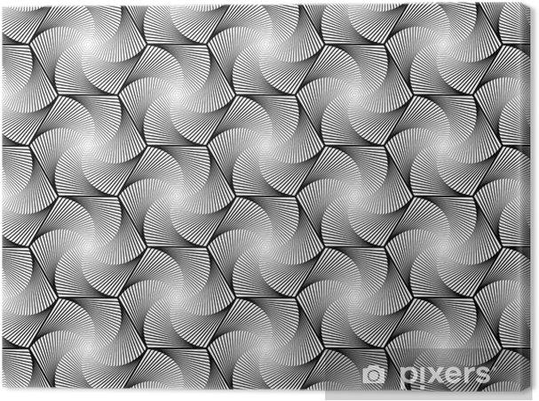 Leinwandbild Design Die Nahtlose Monochrome Innensechs Geometrischen Muster Abstrakt W