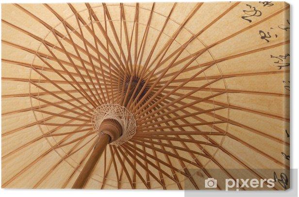 Leinwandbild Detail eines traditionellen Papier Dach - Texturen