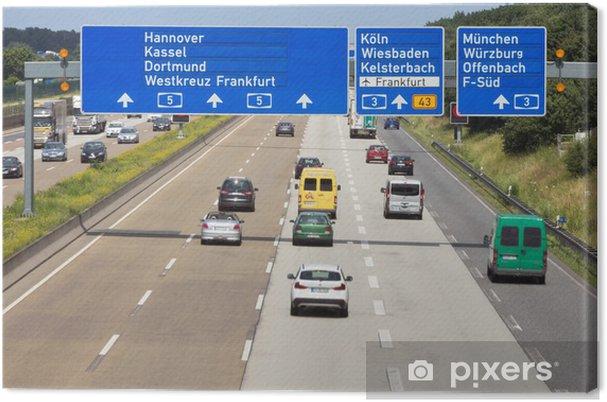Leinwandbild Deutsche autobahn - Straßenverkehr