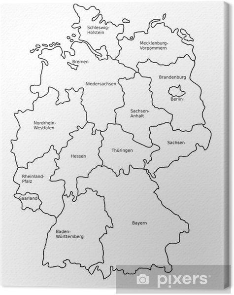 Länder deutschland angrenzende karte an Bundesländer Deutschland