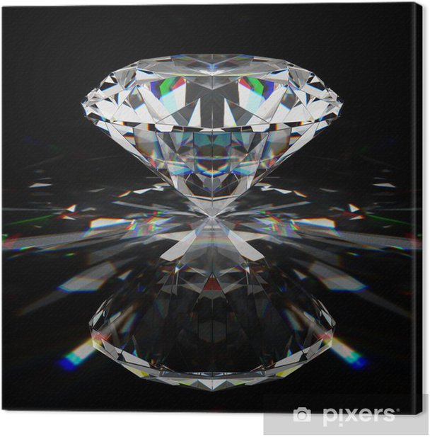 Leinwandbild Diamant - Leistung und Erfolg