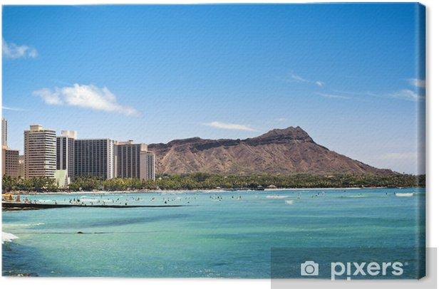 Leinwandbild Diamond Head in Waikiki, Hawaii - Themen