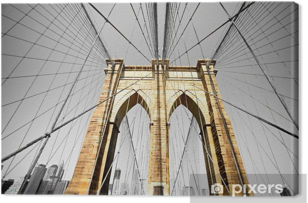 Leinwandbild Die Brooklyn Bridge, New York City. USA. -