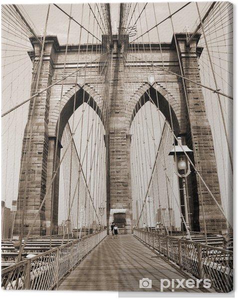 Leinwandbild Die Brooklyn Bridge - Stile