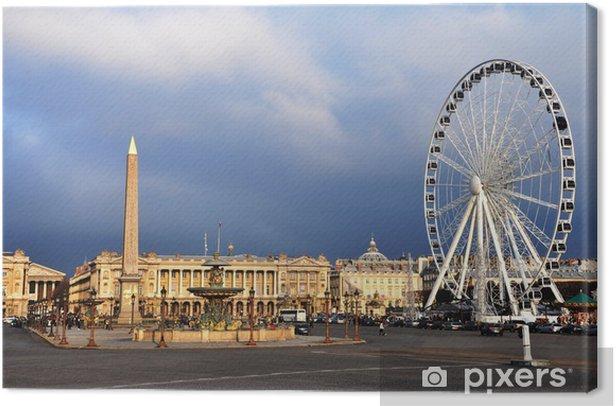 Leinwandbild Die Concorde-Platz - Europäische Städte