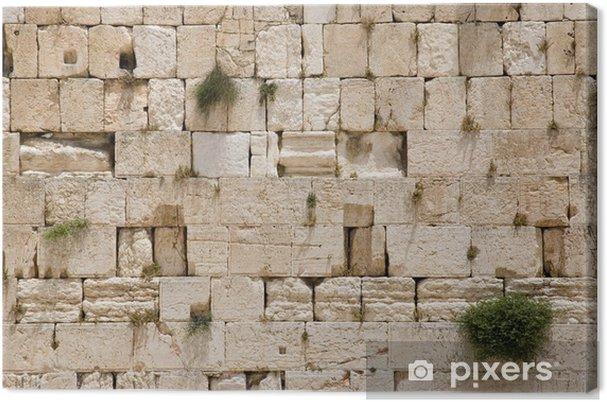 Leinwandbild Die Jerusalem Klagemauer - Nahaufnahme - Denkmäler