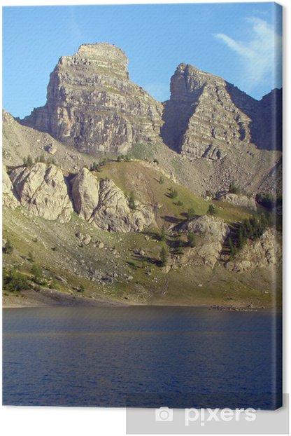 Leinwandbild Die Lac d'Allos und Türme im Mercantour - Europa