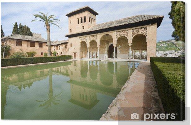 Leinwandbild Die Partal Gärten der Alhambra in Granada - Europa
