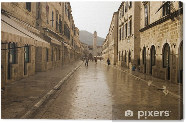 Leinwandbild Die Strada, Main Street und Dubrovnik - Europa