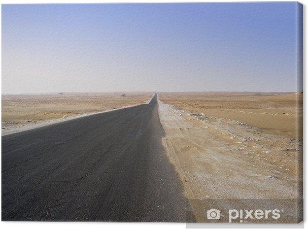 Leinwandbild Die Wüste - Infrastruktur