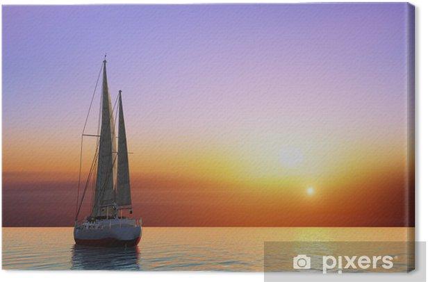 Leinwandbild Die Yacht - Ozeanien