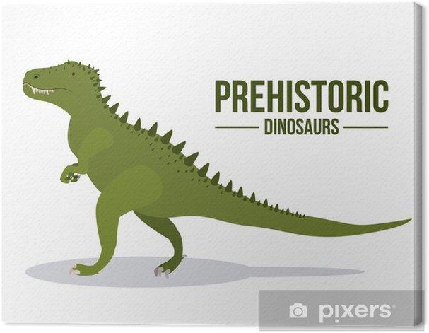 Leinwandbild Dinosaurierentwurf - Andere Objekte