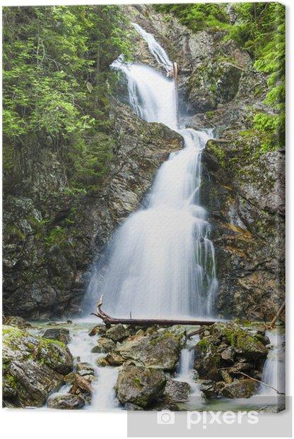 Leinwandbild Dolny Nefcersky Wasserfall, Hohe Tatra (Hohe Tatra), die Slowakei - Europa