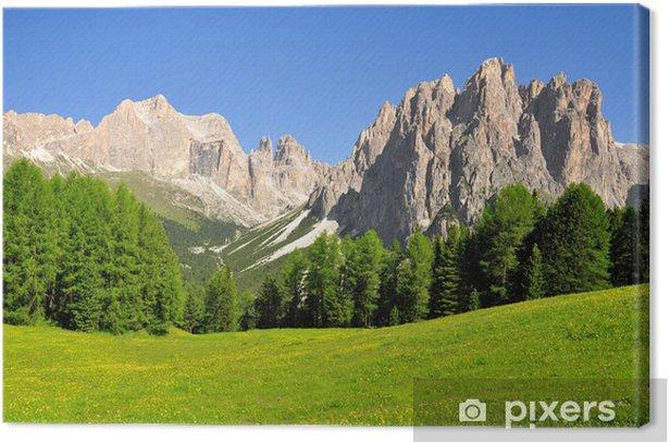Leinwandbild Dolomite Peaks, Rosengarten, Val di Fassa, Italien Alpen - Europa