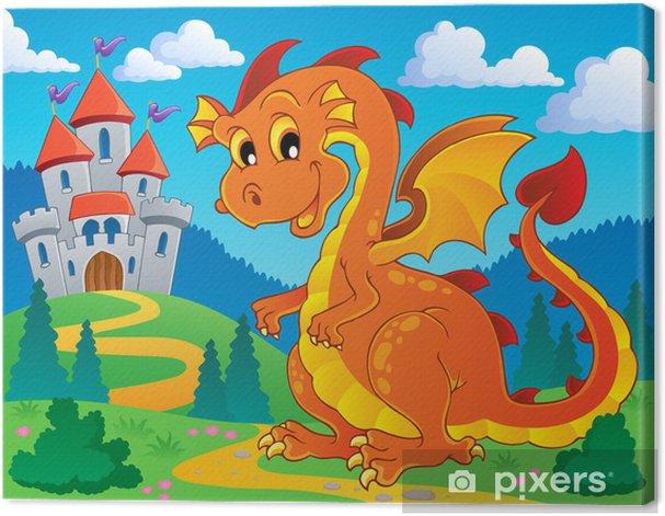 Leinwandbild Dragon Thema Bild 9 - Für Kindergartenkind