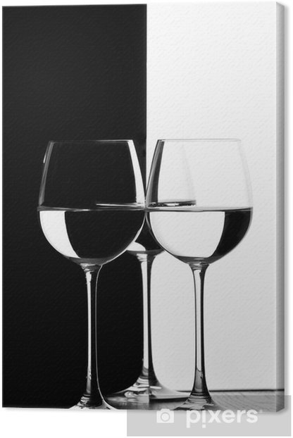Leinwandbild Drei Gläser Wein - Getränkezubehör