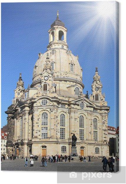 Leinwandbild Dresden - Frauenkirche - Öffentliche Gebäude