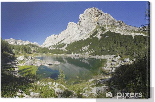 Leinwandbild Dual-See und das Tal der Sieben Seen Triglav und den Julischen Alpen - Seen