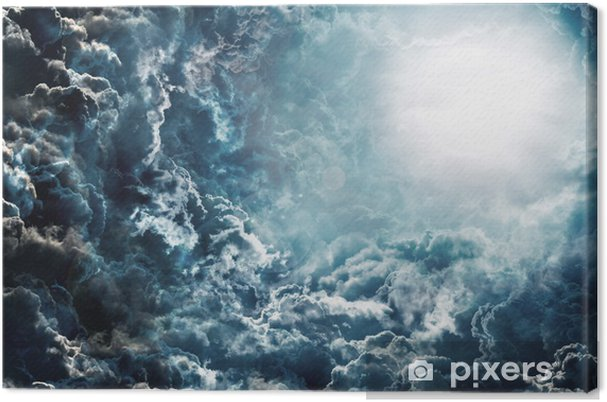 Leinwandbild Dunklen Himmel mit Mond -
