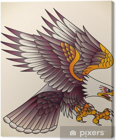 Leinwandbild Eagle-Old-School-Tattoo - Themen